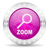Zoom christmas icon — Stock Photo