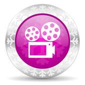 Movie christmas icon — Stock Photo
