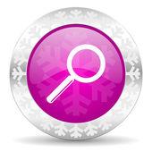 Search christmas icon — Stock Photo