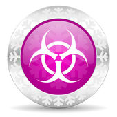 Biohazard christmas icon — Stock Photo
