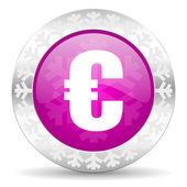 Euro christmas icon — Stockfoto