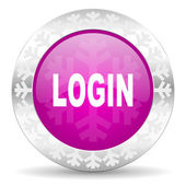 Login christmas icon — Stock Photo