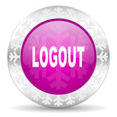 Logout christmas icon — Stock Photo