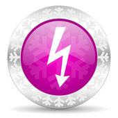 Bolt christmas icon — Stock Photo