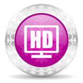Hd display christmas icon — Stock Photo