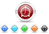 Alarm icon christmas set — Stockfoto