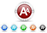 Alphabet icon christmas set — Stock Photo