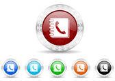 Phonebook icon christmas set — Stock Photo