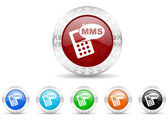 Mms icon christmas set — Foto Stock