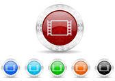 Movie icon christmas set — Stock Photo