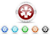 Emergency icon christmas set — ストック写真