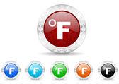 Fahrenheit icon christmas set — Stock Photo
