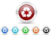 Recycle icon christmas set — ストック写真