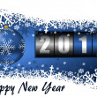 2014 new year illustration with counter — Stock Photo