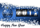 2014 new year illustration with counter — Stok fotoğraf