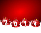2014 new years illustration with christmas balls — Stok fotoğraf