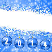 2014 new years illustration with christmas balls — Stock fotografie
