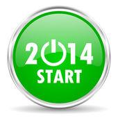 New years 2014 icon — Stock Photo