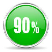 90 percent icon — Stock Photo