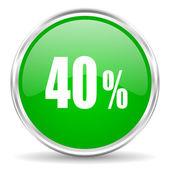 40 percent icon — Stock Photo