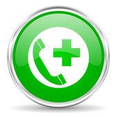Emergency call icon — Stock Photo