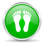 Foot icon — Stock Photo