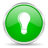 Bulb icon — Stock Photo