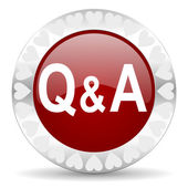 Question answer valentines day icon — Stock Photo
