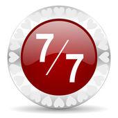 7 per 7 valentines day icon — Stock Photo