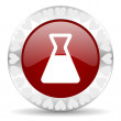 Laboratory valentines day icon — Stock Photo
