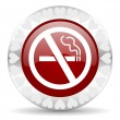 Stock Photo: No smoking valentines day icon