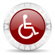 Wheelchair valentines day icon — Stock Photo #38422901