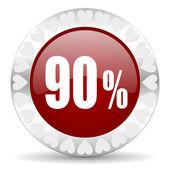 90 percent valentines day icon — Stock Photo
