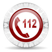 Emergency call valentines day icon — Stock Photo