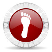 Foot valentines day icon — Stock Photo