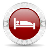 Hotel valentines day icon — Stock Photo