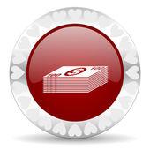 Money valentines day icon — Stock Photo