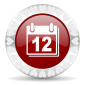 Calendar valentines day icon — Stock Photo