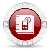 Phonebook valentines day icon — Stock Photo