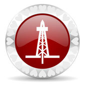 Drilling valentines day icon — Stock Photo