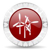 Windmill valentines day icon — Stock Photo