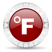 Fahrenheit valentines day icon — Stock Photo