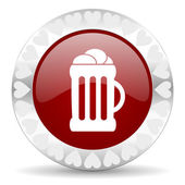 Beer valentines day icon — Stock Photo