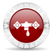 Water valentines dag pictogram — Stockfoto