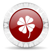 Four-leaf clover valentines day icon — Stock Photo