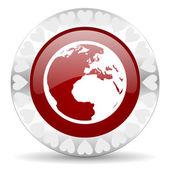 Earth-valentinstag-icon — Stockfoto