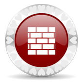 Firewall valentines day icon — Stock Photo
