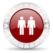 Couple valentines day icon — 图库照片