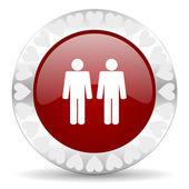 Couple valentines day icon — Stock Photo