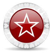 Star valentines day icon — Stock Photo